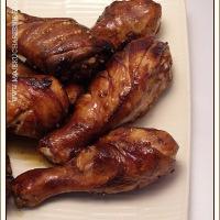 Pieczone pałki z kurczaka - słodkie i lepiące